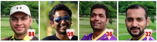 Talha 84, Sreeharsha 59, Hameed 36* and Haris's blazing 32* off 10 Balls Secure a 100 Run Win over Allstars CC